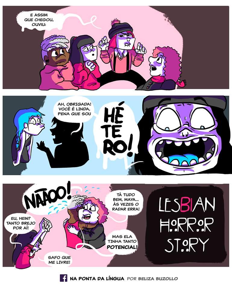 Lésbian Horror Story é uma série de quadrinhos criado pela ilustradora Beliza Buzollo.