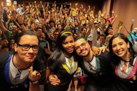 Participantes d'A Ordem em um dos eventos produzidos pelo grupo (Foto: Maria Clara Medeiros)