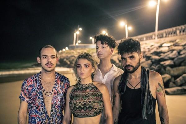 Da esquerda para a direita: Júnior Quintela; Camila Marieta; Daniel Lima e Cláudio Mendes (Foto: Júnior Panela)