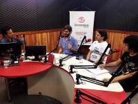 Em novembro de 2016, o Rádio Debate discutiu educação pública superior. Na foto, o jornalista Marcos Robério; os professores Atílio Bergamini e Venício Soares; e o estudante Felipe Fladson (Foto: Igor Vieira)
