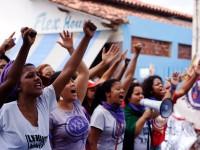 O dia 8 de março foi marcado por atos em todo o Brasil. Em Fortaleza, centenas de mulheres se reuniram na Praça da Bandeira, no Centro (Foto: Marcha Mundial das Mulheres/Divulgação)