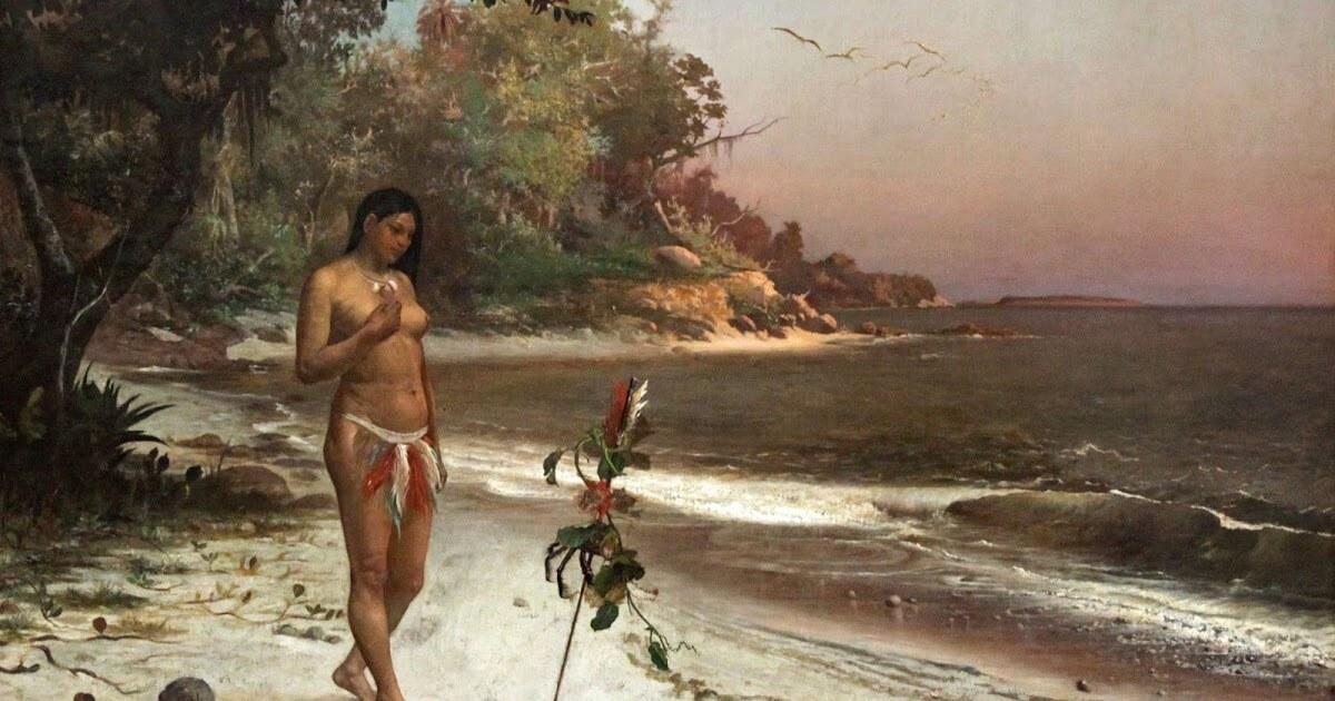 Iracema  é uma expressão do Indianismo que caracterizou a primeira fase do Romantismo no Brasil. Seus principais personagens são o guerreiro branco Martim e Iracema, filha do pajé Araquém (Foto: Reprodução/Internet)