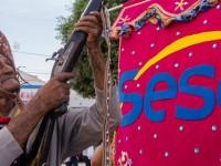 Cortejo na cidade de Juazeiro do  Norte (região do Cariri), em 2015, parte da programação da Mostra SESC Cariri de Culturas (Foto: Davi Pinheiro)