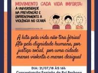 Professores, servidores e estudantes de 11 instituições de ensino superior realizam amanhã (21/7) o ato  A luta pela vida não tira férias