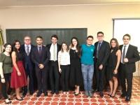 Integrantes do Grupo Ágora na solenidade de lançamento do Observatório Eleitoral do Ceará, na Faculdade de Direito da UFC (Foto: Arquivo Pessoal/Grupo Ágora)