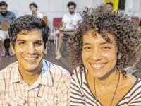 Daniel Chastinet e Flávia Rodrigues são os idealizadores do Com Figura, projeto que já existe há 1 ano e teve início no Ateliê de Flávia (Foto: Thiago Gadelha)