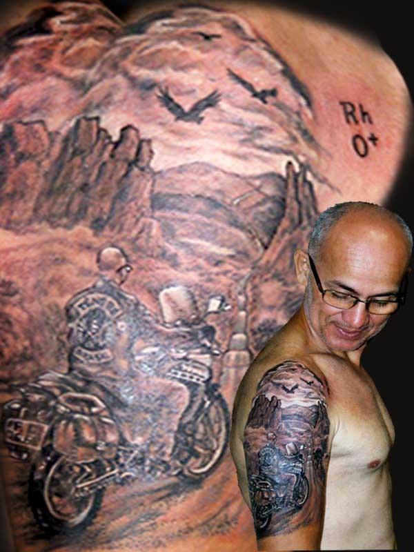 Exemplo de tatuagem funcional feita pelo tatuador Juan Heros (Foto: Arquivo pessoal)