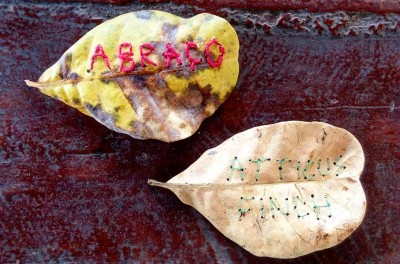 Bordado em folha seca de João Moguel (Foto: João Miguel/Arquivo Pessoal)