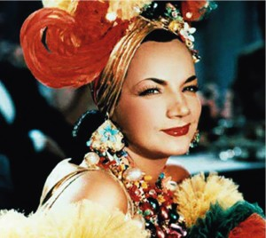Carmen Miranda Foto colorida quadrada