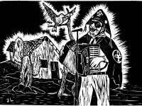 Preservar e divulgar a música popular nordestina é o foco principal do Reouvindo o Nordeste (Na imagem, Luiz Gonzaga em obra de José Lourenço)