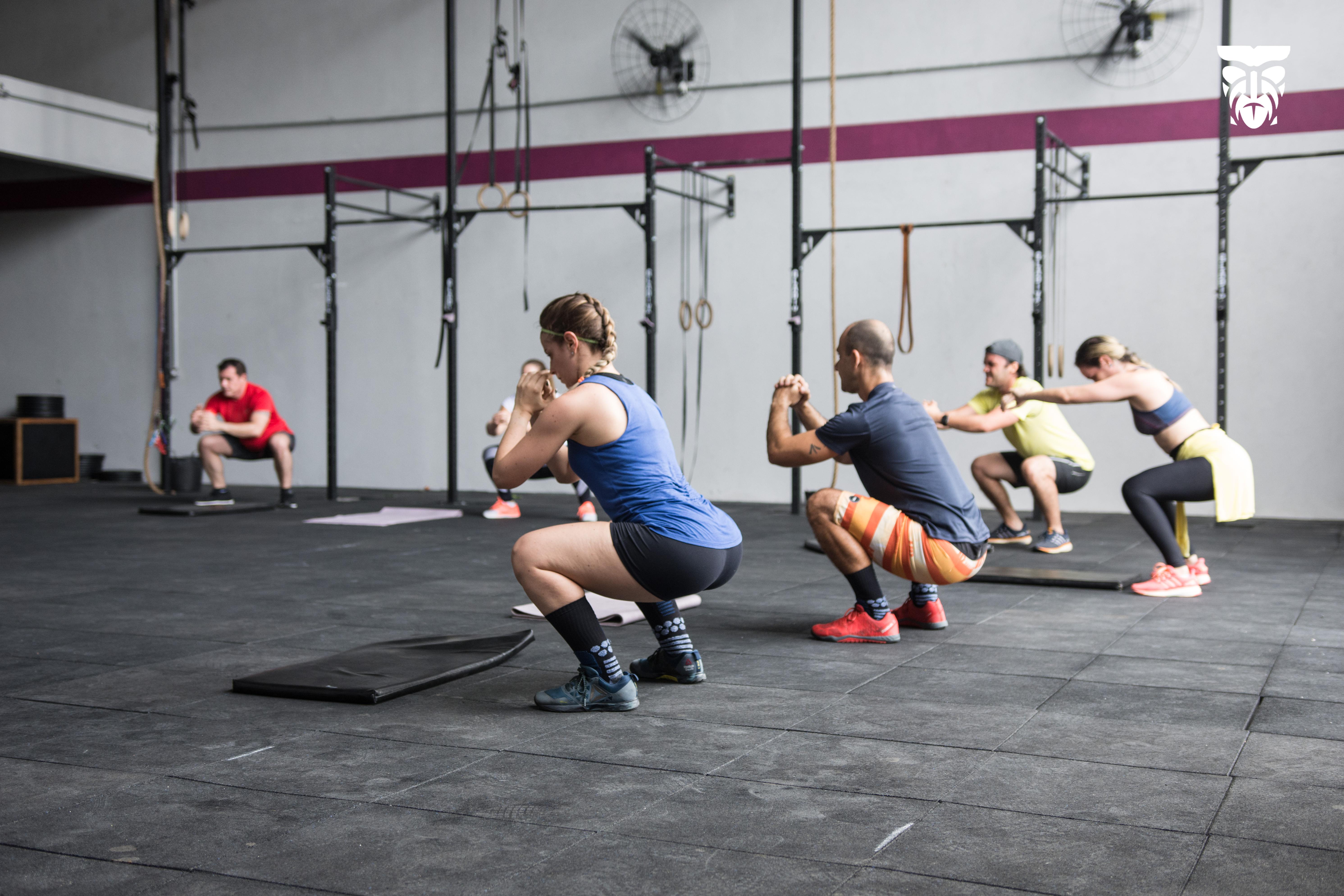 Aula de CrossFit no box de Desirée Sena (foto: Arquivo pessoal)