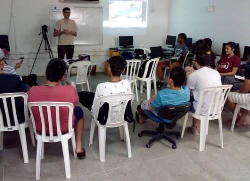 Estudantes do Liceu do Conjunto Ceará participam de disciplina eletiva de Comunicação Foto: Instagram/Robson Braga)