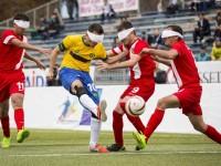 O futebol de cinco é uma adaptação do futebol regular para pessoas com deficiência visual (Foto: Divulgação/Comitê Paralímpico Brasileiro)