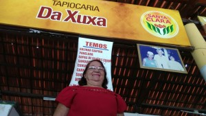 """O que era """"Tapiocaria José Gadelha"""" virou """"Tapiocaria da Xuxa"""" após a visita da apresentadora Xuxa à Tapiocaria em 1989 (Foto: Matheus Ribeiro/Tribuna do Ceará)"""
