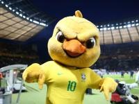 Mascote da Seleção Brasileira na Copa de 2018, apelidado de Canarinho Pistola nas redes sociais (Foto: Reprodução/Internet)