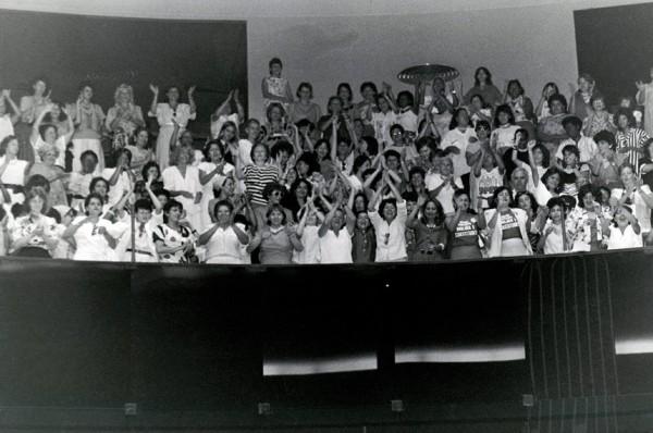 A Bancada do Batom foi fundamental para a garantia de direitos às mulheres na Constituição de 1988. Na época, o Congresso contava com 24 deputadas e estas auxiliaram no avanço de garantias trabalhistas e de outros setores sociais (Foto: Reprodução/Agência Senado)