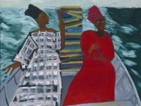 O grupo de estudos decoloniais trabalha temas como ancestralidade e cultura em seus encontros. (Foto: Obra 'Between the Two my Heart is Balanced', 1991, de Lubaina Himid/Reprodução)
