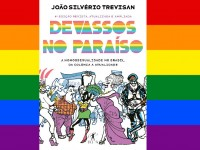 Publicado em 1986, o livro Devassos no Paraíso foi pioneiro em traçar um histórico da vivência LGBT no Brasil  (Imagem: Capa da 4ª edição de Devassos no Paraíso, Editora Objetiva; Reprodução/Metrópoles)