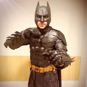 Juaci Filho em ação como cosplay do Batman (Foto: Arquivo Pessoal)