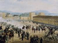 A imagem é uma pintura óleo sobre tela de Benedito Calixto (1893) (Foto: Reprodução/Internet)