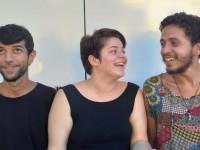 Tanilo Ramos, Beatriz Gurgel e Jão (da esquerda para direita) formam o Coletivo Absolutamente Ninguém. A ideia da exposição é transformar o público em observadores ativos (Foto: Divulgação)