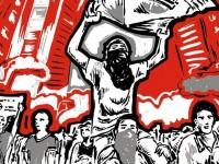 """Para o professor da UFC  Wellington de Oliveira, a """"inter-relação entre arte e política está na possibilidade de inventar novos mundos e, portanto, novas políticas"""" (ilustração: Alex Frechette/ Reprodução: Facebook)"""
