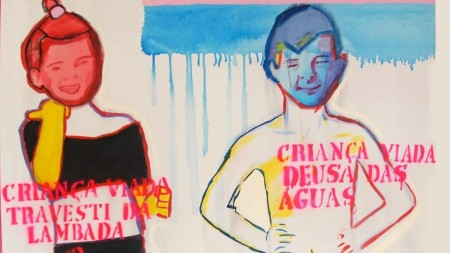 Telas da série Criança Viada, da artista plástica Bia Leite, integraram a exposição Queermuseu que sofreu ataques de intolerância de grupos da direita (Foto: Divulgação)