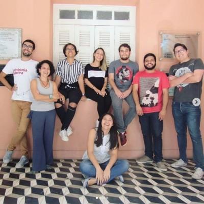 Equipe do site da Rádio Universitária FM de 2018 (Foto: Arquivo Pessoal)