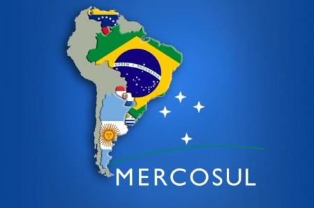 Os países-membros do Mercosul: Brasil, Argentina, Paraguai, Uruguai e Venezuela, que está suspensa do bloco (Foto: Plenarinho)