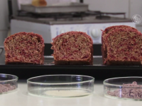 A união de componentes não prejudicou as características tecnológicas do pão, como volume, simetria e estrutura porosa de miolo (Foto: Reprodução/UFCTV)