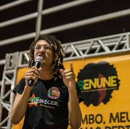 Mário Magno é membro da coordenação nacional do Enegrecer, maior coletivo de juventude negra do Brasil (Foto: Matheus Alves)