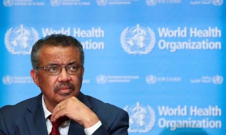 A Organização Mundial da Saúde (OMS) incentiva a cooperação internacional entre os países. Atualmente, o diretor-geral da OMS é o etíope Tedros Adhanom Ghebreyesus (Foto: Denis Balibouse/Reuters)