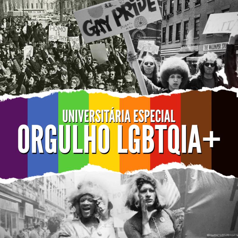 Imagem de divulgação do Universitária Especial sobre o Orgulho LGBTQIA+ (Imagens: Netflix; Kay Tobin/The NY Public Library Collections; e American Broadcasting Company / Modificadas por Mateus Brisa)