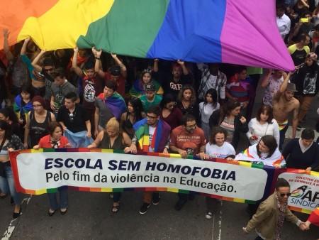 A iniciativa Escola Sem Homofobia era uma coletânea de orientações de cunho formativo sobre diversidade sexual e de gênero (Foto: Reprodução/APP-Sindicato)