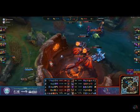 A final da I Copa de League of Legends da Rede Cuca foi transmitida ao vivo pelo canal Juv.Tv (Foto: Reprodução)