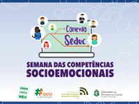 """O seminário virtual """"Escola Resiliente e as Competências Socioemocionais"""" faz parte do projeto Conexão Seduc (Imagem: Reprodução/Seduc)"""