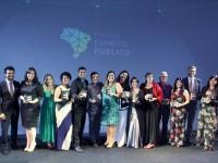 Na foto, ganhadores do Prêmio Espírito Público de 2018 (Foto: Reprodução/ Folha de São Paulo)