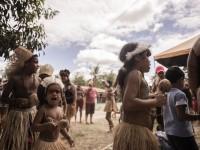 No Ceará existem 14 povos indígenas espelhados por 18 municípios. A foto mostra a Festa do Milho na Reserva Indígena Pitaguary (Foto: Thiara Montefusco/ Governo do Ceará)