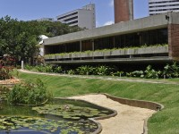 A Residência Benedito Macedo abrigou a CASACOR Ceará em 2018 e 2019 (Foto: Esdras Guimarães/CASACOR)