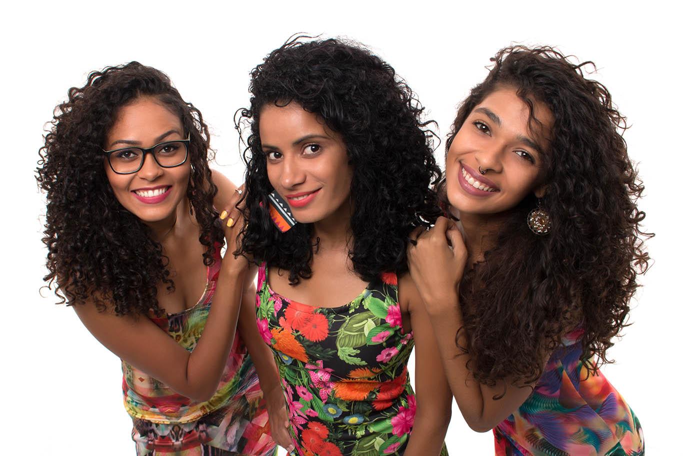 """Jordania, Ranny e Gessica (da esquerda para a direita) receberam convite para gravar com Andread Jó, em 2018, a faixa """"Paz no meu coração"""" (Foto: Igor de Melo/Vós)"""