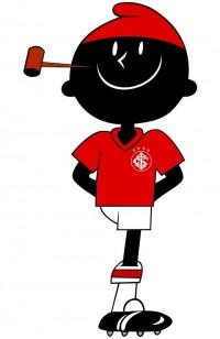 O saci concorreu para ser mascote da Copa do Mundo de Futebol, realizada no Brasil, em 2014. No entanto, perdeu para o tatu-bola. Seu lugar de destaque no futebol é como mascote do Internacional, time gaúcho da série A do Campeonato Brasileiro. (Foto: Reprodução/Pinterest)