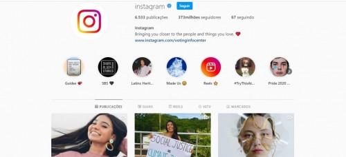 No mês em que comemora 10 anos, o Instagram reúne 373 milhões de seguidores no seu perfil oficial (Foto: Reprodução/ Internet)
