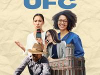 """Nesta primeira edição, o """"Conhecendo a UFC"""" apresenta oito cursos, incluindo as quatro graduações que deram origem à Universidade (Arte: Mateus Brisa)"""