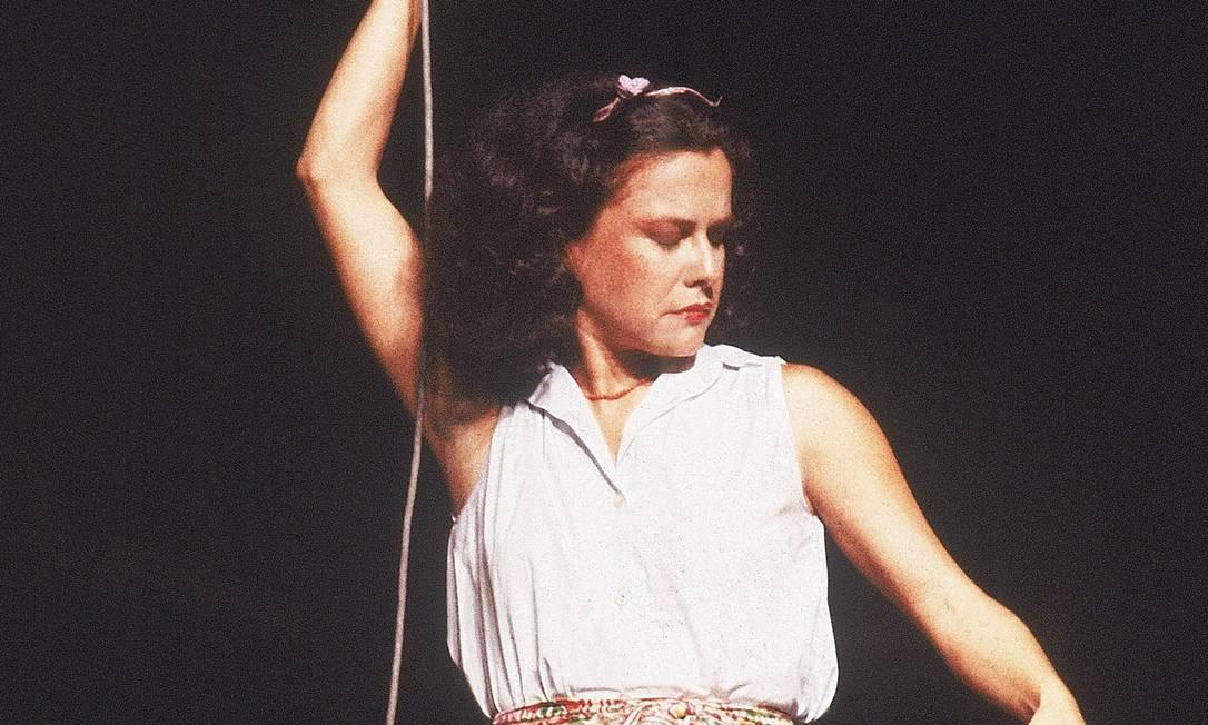 A primeira edição do Matinê veiculou a gravação do show de Elis Regina no Festival de Jazz de Montreux, na Suíça, realizado em 1979 (Foto: Reprodução/Internet)