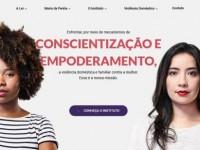 Website do Instituto Maria da Penha (Imagem: Reprodução/Internet)