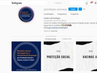 O link do manifesto pode ser acessado através da página @psicologxs.vacina.ja no Instagram (Imagem: Reprodução/Instagram)