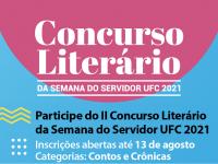 As inscrições para o 2º Concurso Literário da Semana do Servidor da UFC estão abertas até 13 agosto (Foto: Divulgação)